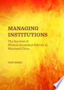Managing Institutions