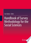 """""""Handbook of Survey Methodology for the Social Sciences"""" by Lior Gideon"""