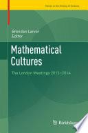 Mathematical Cultures