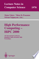 High Performance Computing - HiPC 2000