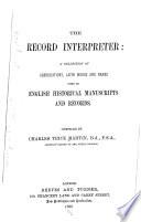 The Record Interpreter Book PDF