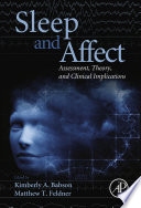 Sleep and Affect Book