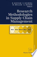 Research Methodologies in Supply Chain Management