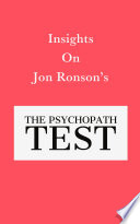 Insights On Jon Ronson's The Psychopath Test