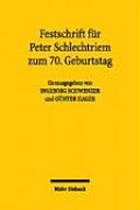 Festschrift f  r Peter Schlechtriem zum 70  Geburtstag