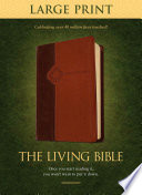 """The Living Bible: Brown / Tan Tutone Leatherlike"" by Tyndale, Tyndale House Publishers"