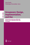 Groupware  Design  Implementation  and Use