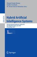 Hybrid Artificial Intelligent Systems, Part I Pdf/ePub eBook