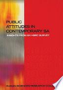 Public Attitudes In Contemporary South Africa