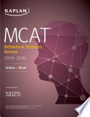 Mcat Behavioral Sciences Review 2019 2020
