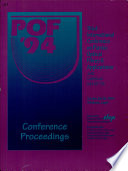 Third International Conference on Plastic Optical Fibres & Applications