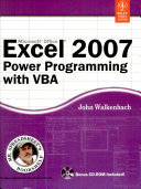 MS EXCEL 2007 POWER PROGRAMMING WITH VBA  With CD