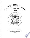 Michigan State Library Acquisitions