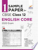 1 Sample Paper For Cbse Class 12 English Core 2020 Exam