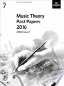 Music Theory Past Papers Grade 7 2016
