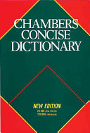 Chambers Concise Dictionary