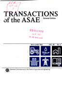 Transactions of the ASAE.