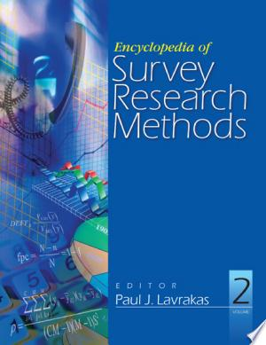Download Encyclopedia of Survey Research Methods Free Books - Read Books