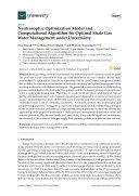 Neutrosophic Optimization Model and Computational Algorithm for Optimal Shale Gas Water Management under Uncertainty