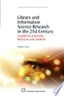 Library and Information Science Research in the 21st Century Book