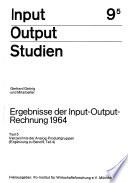 Ergebnisse der Input-Output-Rechnung 1964