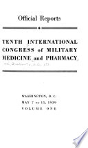 Tenth International Congress of Military Medicine and Pharmacy, Washington, D.C., May 7 to 15, 1939