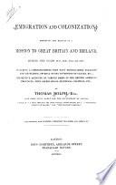 Emigration and Colonization