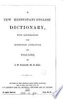 A new Hindustani-English dictionary