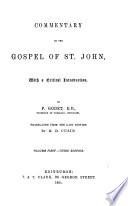 Commentary On The Gospel Of St John