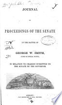 Journal Of Proceedings Of The Senate In The Matter Of George W Smith Judge Of Oneida County