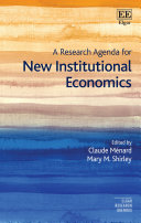 A Research Agenda for New Institutional Economics Pdf/ePub eBook