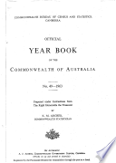 Official Year Book Of The Commonwealth Of Australia No 49 1963