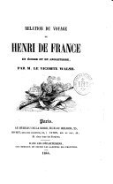 Relation du voyage de Henri de France en Écosse et en Angleterre