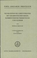 Neumandäische Chrestomathie