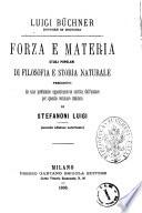 Forza e materia studi popolari di filosofia e storia naturale