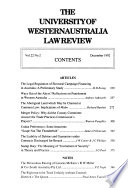 University of Western Australia Law Review