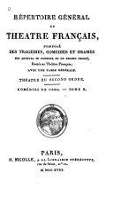 Répertoire général du Théâtre Français: Comédies en verse I-XVII
