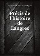 Pdf Pr?cis de l'histoire de Langres Telecharger