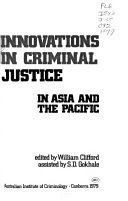Innovations In Criminal Justice In Asia And The Pacific