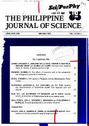 The Philippine Journal Of Science