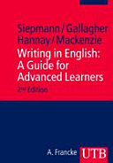 Writing in English  A Guide for Advanced Learners