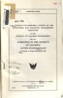 A Contract to Perform a Survey of the Accounting and Financial Management Practices of the District of Columbia Government
