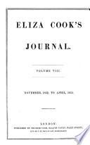 Eliza Cook s Journal Book