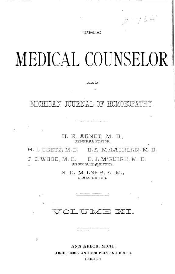 The Medical Counselor