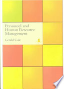 """Personnel and Human Resource Management"" by Gerald A. Cole"