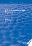 A Critical Appraisal of Viral Taxonomy