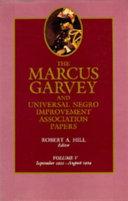 The Marcus Garvey and Universal Negro Improvement Association Papers  Vol  V