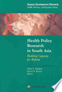 Health Policy Research In South Asia Book PDF