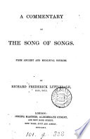A Commentary on the Song of Songs