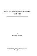 Pindar and the Renaissance Hymn ode  1450 1700